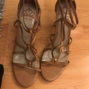 Brown high heal sandal